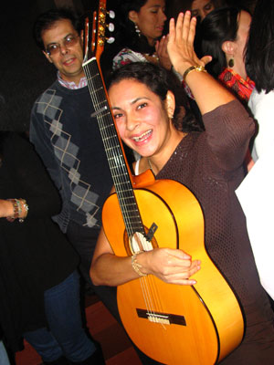 Natalia with my beautiful guitar Yahaira
