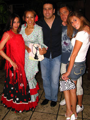 Flamenco dancers Ginette, Isabelita Otero, Jason Vera y Aragon with Vic and Serenity