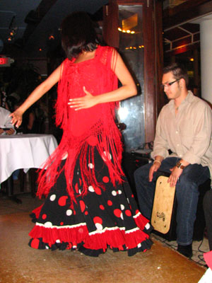 Flamenco dancer Ginette performing solea