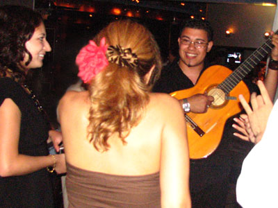 Flamenco dancer Isabelita with Gaby and singer Hector Marquez