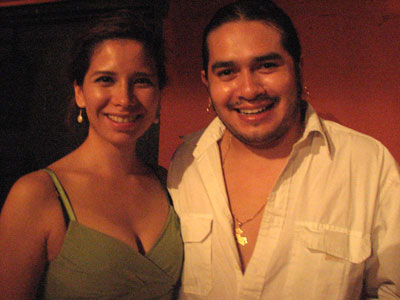 Cindy with singer/guitarist Jose Oretea