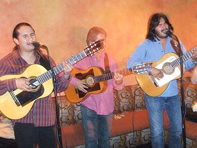 along to checkout rumba group Duende Camarón featuring guitarist singers