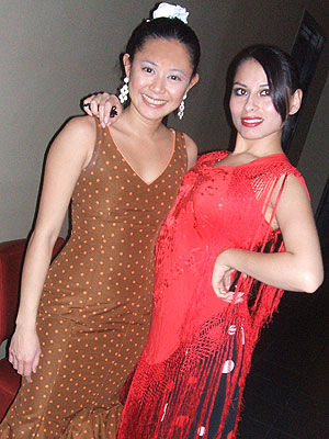 Flaemnco dancers Pam de Ocampo and Ginette